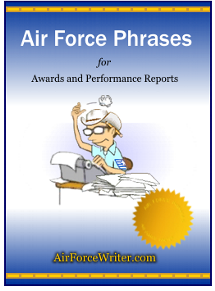 Effective phrases for performance appraisals pdf for Air force decoration writing