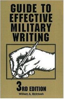 army writing style guide