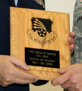 NCO of the Quarter Plaque